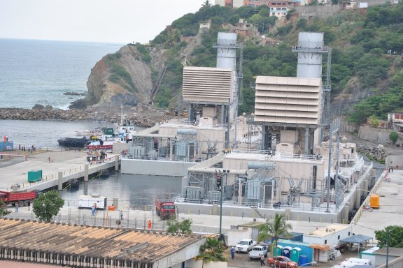 Floating electric 170 MW Power Plants (Tacoa)